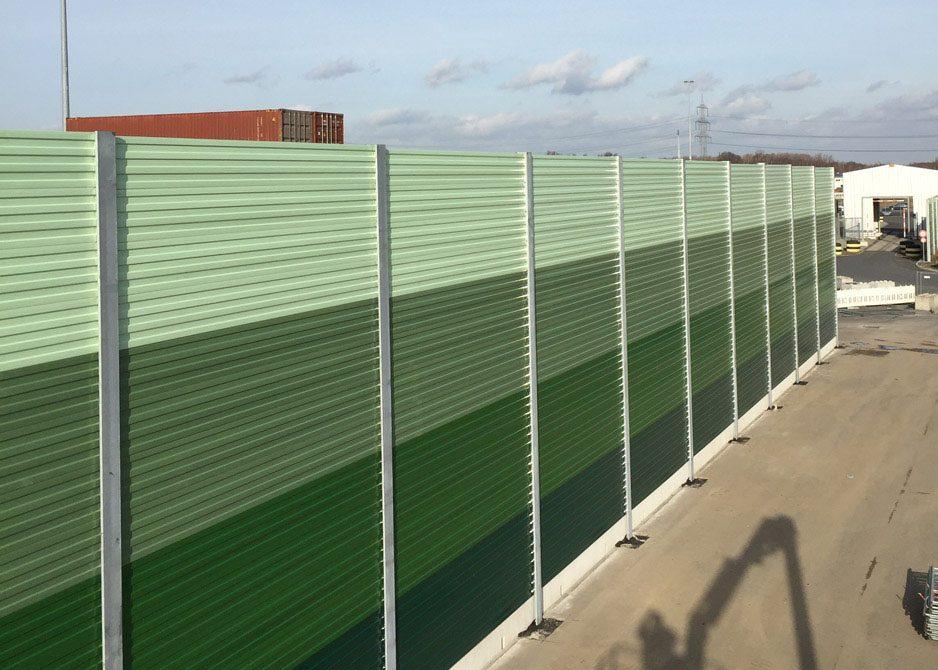 Lärmschutzwand aus Aluminium, hochabsorbierend in Duisburg