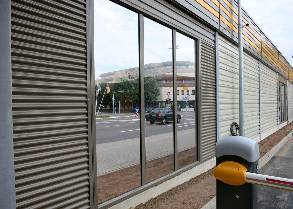 Lärmschutzwand Aluminium und Glas