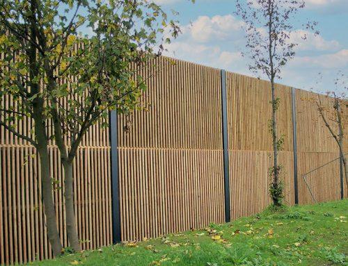 Lärmschutzwand aus Holz 09