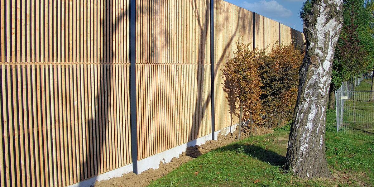 Lärmschutzwand aus Holz