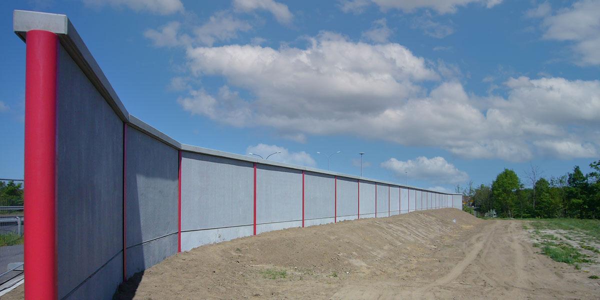 Lärmschutzwand aus Beton