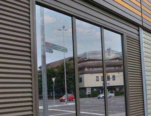 Lärmschutzwand aus Glas 02