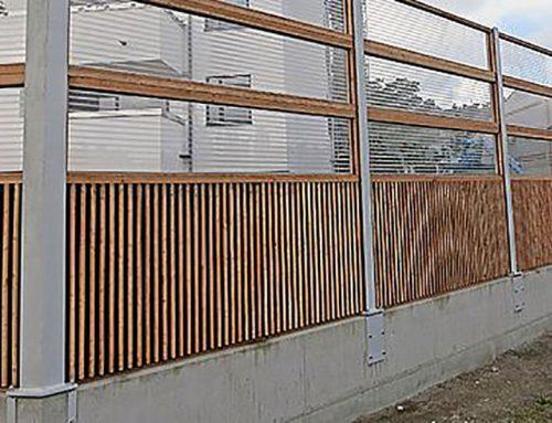 Lärmschutzwand aus Glas 05